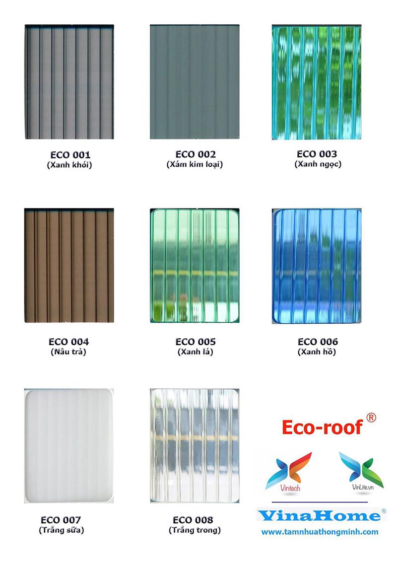 Tấm nhựa thông minh rỗng eco-roof